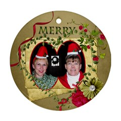 Round 2 Sided Ornament Ferne Kate By Pat Kirby   Round Ornament (two Sides)   F9ap3rc5k2kf   Www Artscow Com Back
