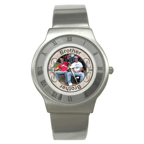 Brother Stainless Steel Watch By Lil    Stainless Steel Watch   Anbt46ojnyof   Www Artscow Com Front