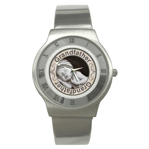 Grandfather Stainless Steel Watch By Lil    Stainless Steel Watch   Nd9025wlxvpc   Www Artscow Com Front