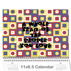 Pats Calander By Tracy   Wall Calendar 11  X 8 5  (12 Months)   Eqgrqxk880fv   Www Artscow Com Cover