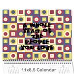 pats calander - Wall Calendar 11  x 8.5  (12-Months)