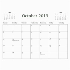 Pats Calander By Tracy   Wall Calendar 11  X 8 5  (12 Months)   Eqgrqxk880fv   Www Artscow Com Oct 2013