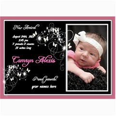 7x5 Birth Announcement Photo Card By Laurrie   5  X 7  Photo Cards   40mhxiz42c1g   Www Artscow Com 7 x5 Photo Card - 7