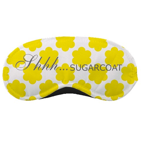 Shhh   Sugarcoat; Yellow Flower By Erika   Sleeping Mask   Kmwiy30v201a   Www Artscow Com Front