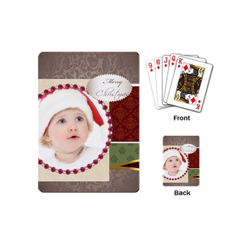 Christmas By Jo Jo   Playing Cards (mini)   Nig1vbpzy31m   Www Artscow Com Back