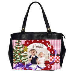 Merry Christmas By Joely   Oversize Office Handbag (2 Sides)   Zxv4pg261z7f   Www Artscow Com Front