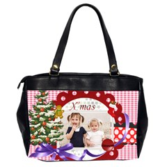 Merry Christmas By Joely   Oversize Office Handbag (2 Sides)   Zxv4pg261z7f   Www Artscow Com Back