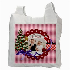Merry Christmas By Joely   Recycle Bag (two Side)   Liqrygsa1dv3   Www Artscow Com Back