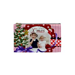 Merry Christmas By Joely   Cosmetic Bag (small)   62fwisgk755p   Www Artscow Com Front