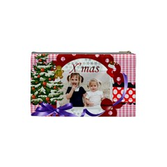 Merry Christmas By Joely   Cosmetic Bag (small)   62fwisgk755p   Www Artscow Com Back