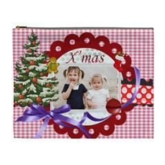 Merry Christmas By Joely   Cosmetic Bag (xl)   N3w5r5r2xtpo   Www Artscow Com Front