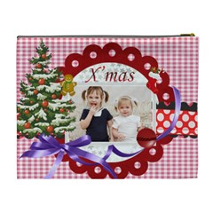 Merry Christmas By Joely   Cosmetic Bag (xl)   N3w5r5r2xtpo   Www Artscow Com Back