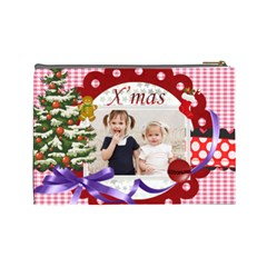 Merry Christmas By Joely   Cosmetic Bag (large)   H3zab37c3lba   Www Artscow Com Back