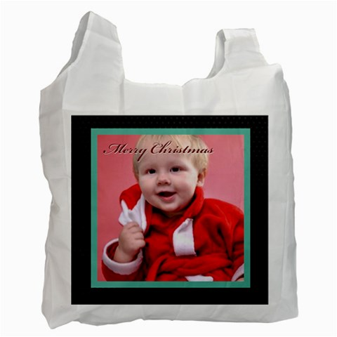 Merry Christmas By Man   Recycle Bag (one Side)   Ksj4au77szhm   Www Artscow Com Front