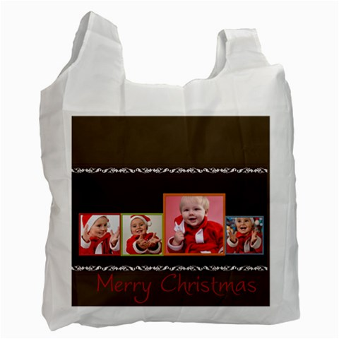 Merry Christmas By Man   Recycle Bag (one Side)   Py1giw52bqai   Www Artscow Com Front
