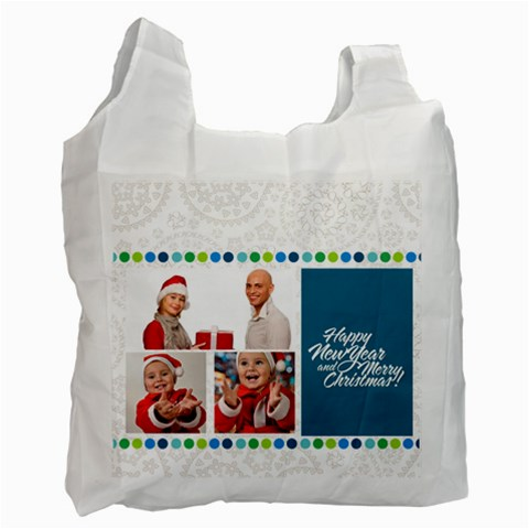 Merry Christmas By Man   Recycle Bag (one Side)   Mc2hczzq6wge   Www Artscow Com Front