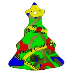 Christmas Tree 4 (your Own Text) By Riksu   Christmas Tree Ornament (two Sides)   4tb3u6j6oebq   Www Artscow Com Back