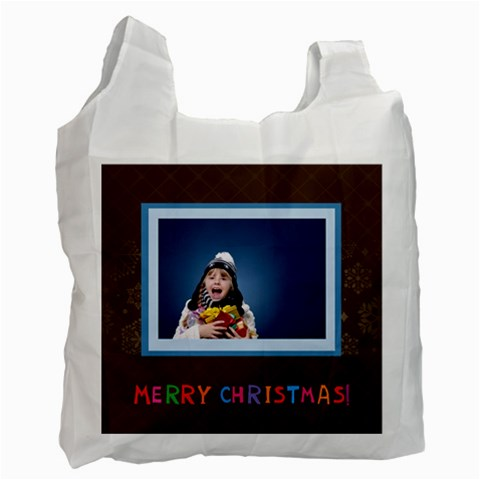 Merry Christmas By Man   Recycle Bag (one Side)   Tz070py51tap   Www Artscow Com Front