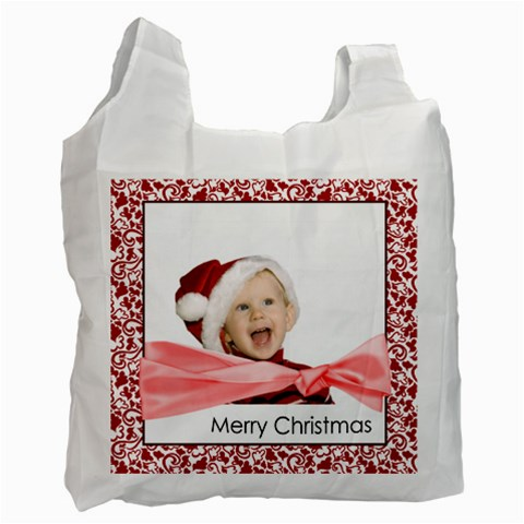 Merry Christmas By Man   Recycle Bag (one Side)   7rbs2l6xmcg5   Www Artscow Com Front