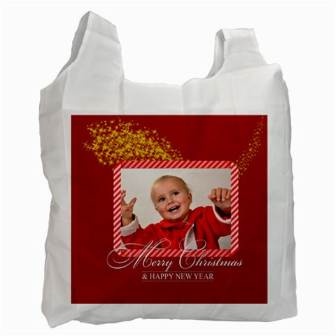 Merry Christmas By Man   Recycle Bag (one Side)   Wqwqr4nx6z4k   Www Artscow Com Front