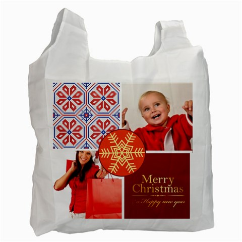 Merry Christmas By Man   Recycle Bag (one Side)   Pyy8df706fa1   Www Artscow Com Front