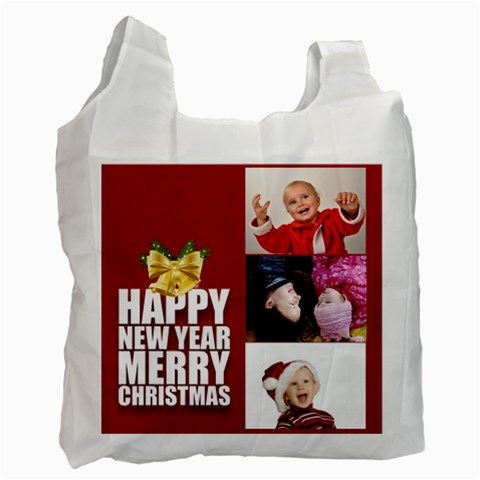 Merry Christmas By Man   Recycle Bag (one Side)   3d1hrsngbfi2   Www Artscow Com Front