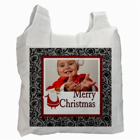 Merry Christmas By Man   Recycle Bag (one Side)   3fr6vpf2kj1m   Www Artscow Com Front