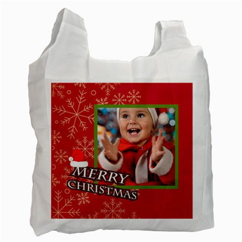 Merry Christmas By Man   Recycle Bag (one Side)   Mdun782y0d89   Www Artscow Com Front
