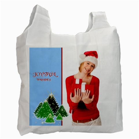 Merry Christmas By Man   Recycle Bag (one Side)   1hr9v58arngb   Www Artscow Com Front