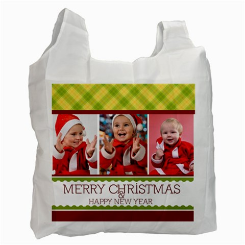 Merry Christmas By Man   Recycle Bag (one Side)   B50jx7rx90th   Www Artscow Com Front