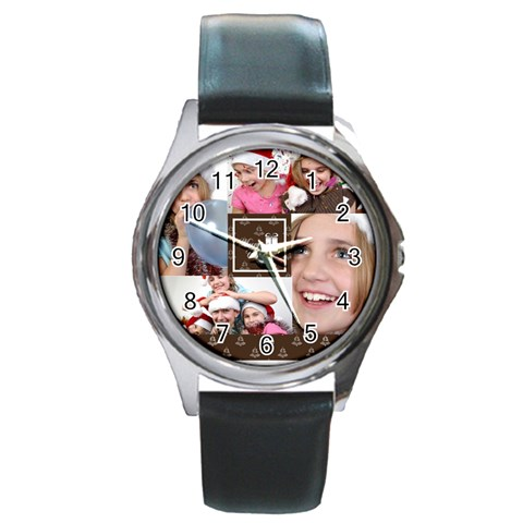 Xmas By M Jan   Round Metal Watch   Mvqi2abpx27d   Www Artscow Com Front