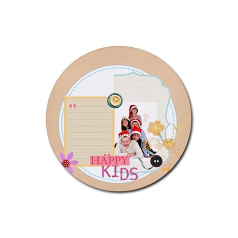 Merry Christmas By Betty   Rubber Coaster (round)   8ci7lf4bd7cy   Www Artscow Com Front