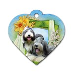 Beardie-Love-001 - Dog Tag Heart (One Side)