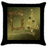 Christmas 2012 throw pillow - Throw Pillow Case (Black)
