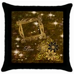 Love gold throw pillow - Throw Pillow Case (Black)