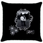 Black white Love throw pillow - Throw Pillow Case (Black)