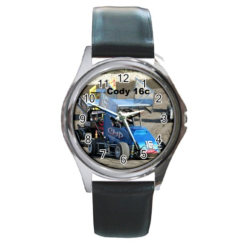 Cody Watch By Heather Parmley   Round Metal Watch   R8llxf7vhaxo   Www Artscow Com Front
