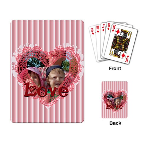 Love By Joely   Playing Cards Single Design (rectangle)   Qs4rile706i2   Www Artscow Com Back
