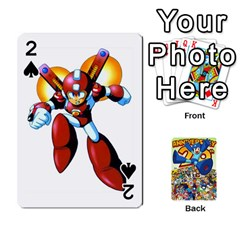 Mega Man By Cheesedork   Playing Cards 54 Designs   Smlvwcjcpd6r   Www Artscow Com Front - Spade2