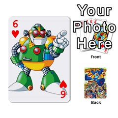 Mega Man By Cheesedork   Playing Cards 54 Designs   Smlvwcjcpd6r   Www Artscow Com Front - Heart6