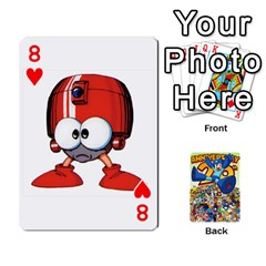 Mega Man By Cheesedork   Playing Cards 54 Designs   Smlvwcjcpd6r   Www Artscow Com Front - Heart8
