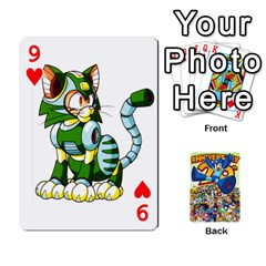 Mega Man By Cheesedork   Playing Cards 54 Designs   Smlvwcjcpd6r   Www Artscow Com Front - Heart9