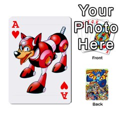 Ace Mega Man By Cheesedork   Playing Cards 54 Designs   Smlvwcjcpd6r   Www Artscow Com Front - HeartA