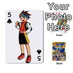 Mega Man By Cheesedork   Playing Cards 54 Designs   Smlvwcjcpd6r   Www Artscow Com Front - Spade5