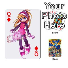 Queen Mega Man By Cheesedork   Playing Cards 54 Designs   Smlvwcjcpd6r   Www Artscow Com Front - DiamondQ