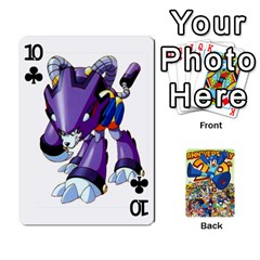 Mega Man By Cheesedork   Playing Cards 54 Designs   Smlvwcjcpd6r   Www Artscow Com Front - Club10