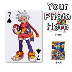 Mega Man By Cheesedork   Playing Cards 54 Designs   Smlvwcjcpd6r   Www Artscow Com Front - Spade7