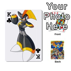 King Mega Man By Cheesedork   Playing Cards 54 Designs   Smlvwcjcpd6r   Www Artscow Com Front - ClubK