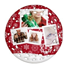 Merry Christmas By May   Round Filigree Ornament (two Sides)   Irtcq64gtw0b   Www Artscow Com Front