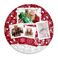 Merry Christmas By May   Round Filigree Ornament (two Sides)   Irtcq64gtw0b   Www Artscow Com Back